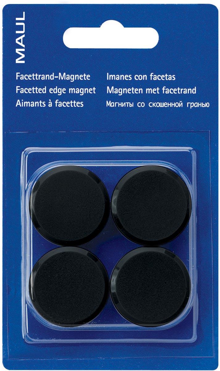 Maul magneet MAULsolid, diameter 38 mm, zwart, blister van 4 stuks