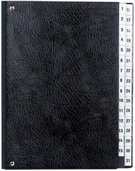 Class'ex sorteermap met cijferaanduiding 1-31, zwart