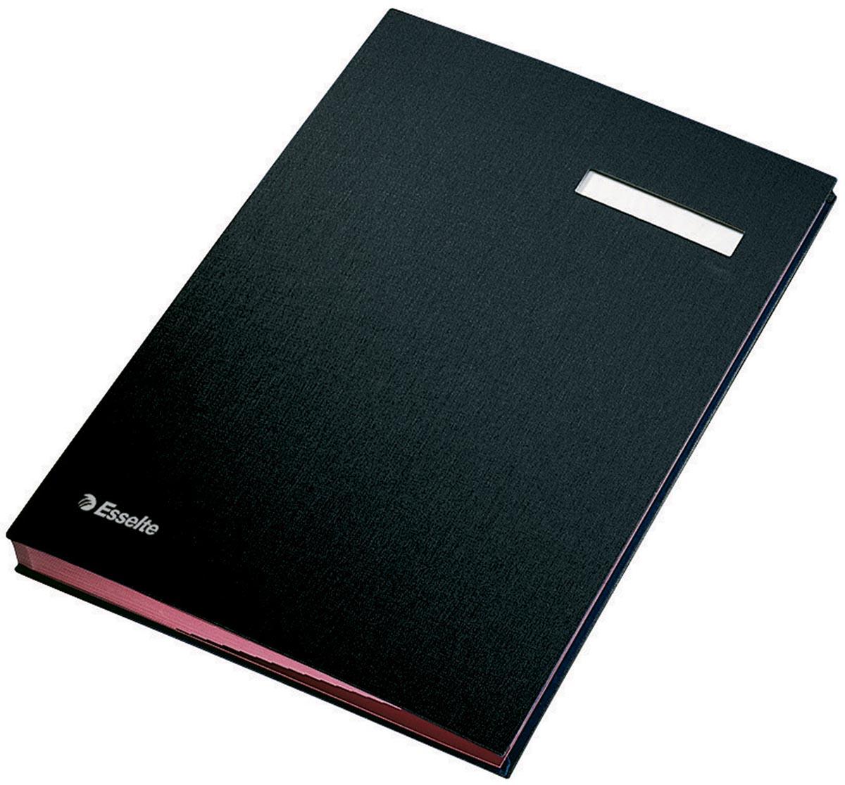 Esselte handtekenmap, ft A4, 20 vakken, zwart