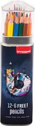 Bruynzeel kleurpotloden Dark, koker van 12+6 stuks gratis