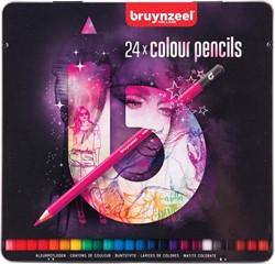 Bruynzeel kleurpotloden Light, metalen doos van 24 stuks