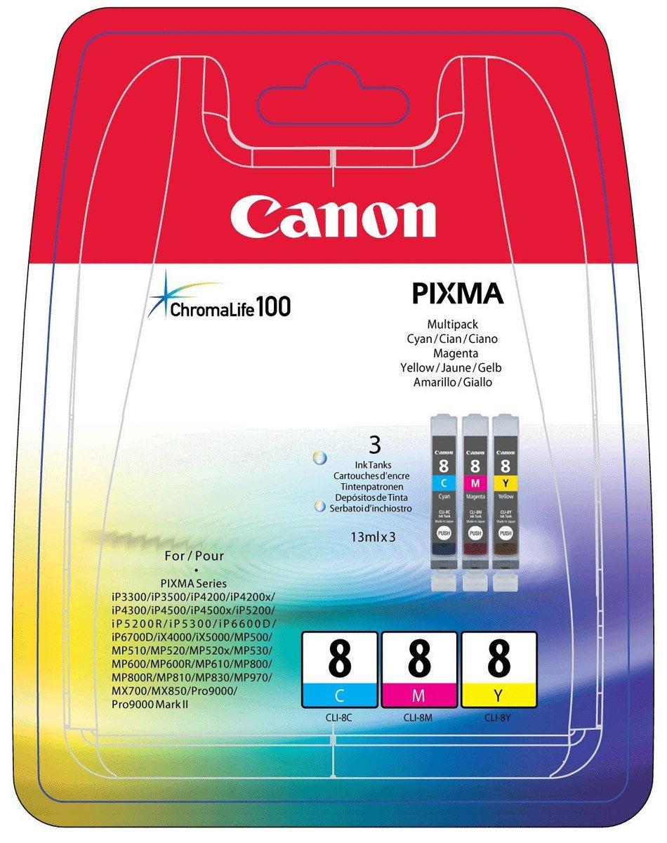 Canon inktcartridge CLI-8, 420 pagina's, OEM 0621B029, 3 kleuren