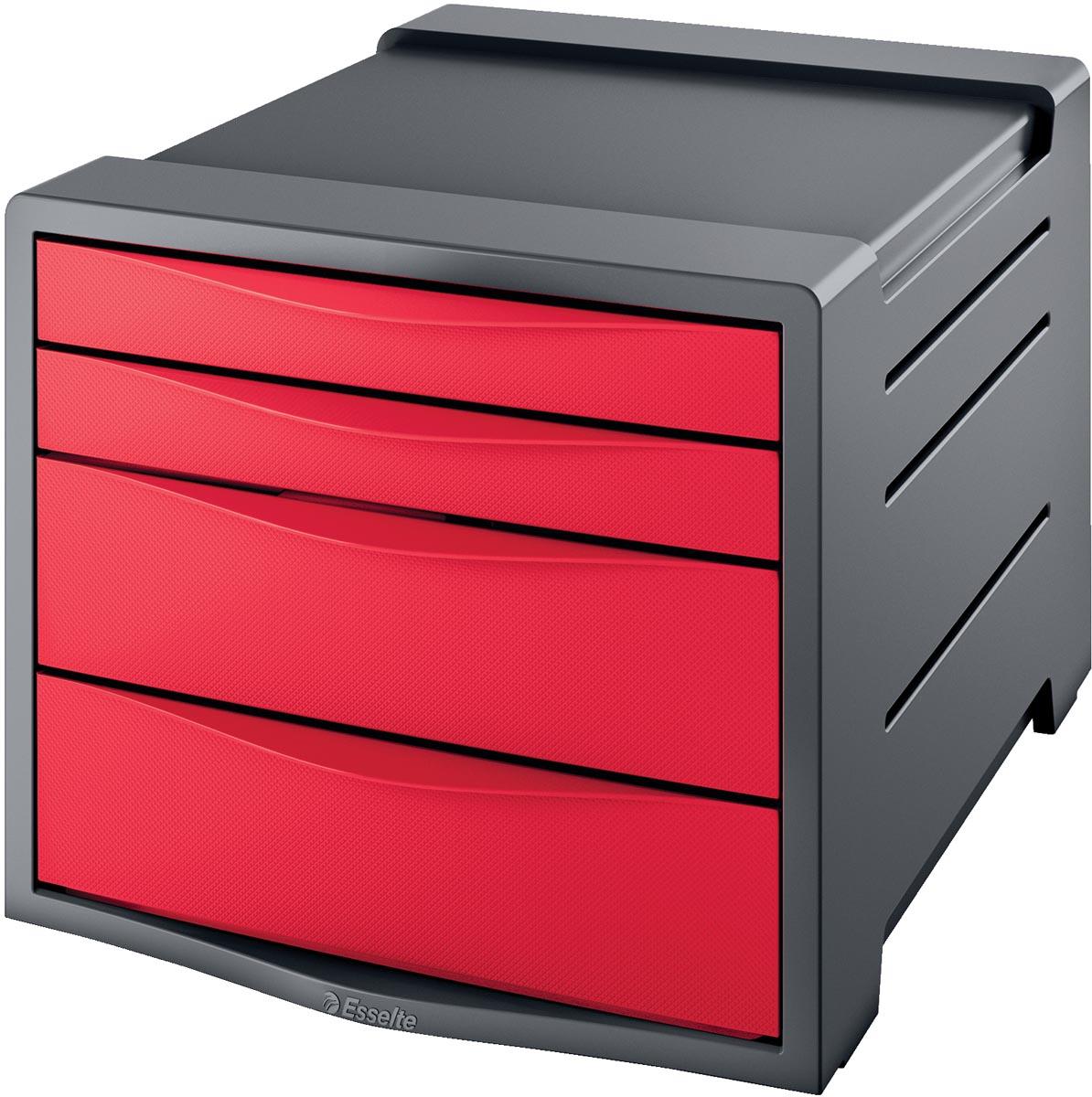 Ladenbox Esselte Vivida 4 laden rood