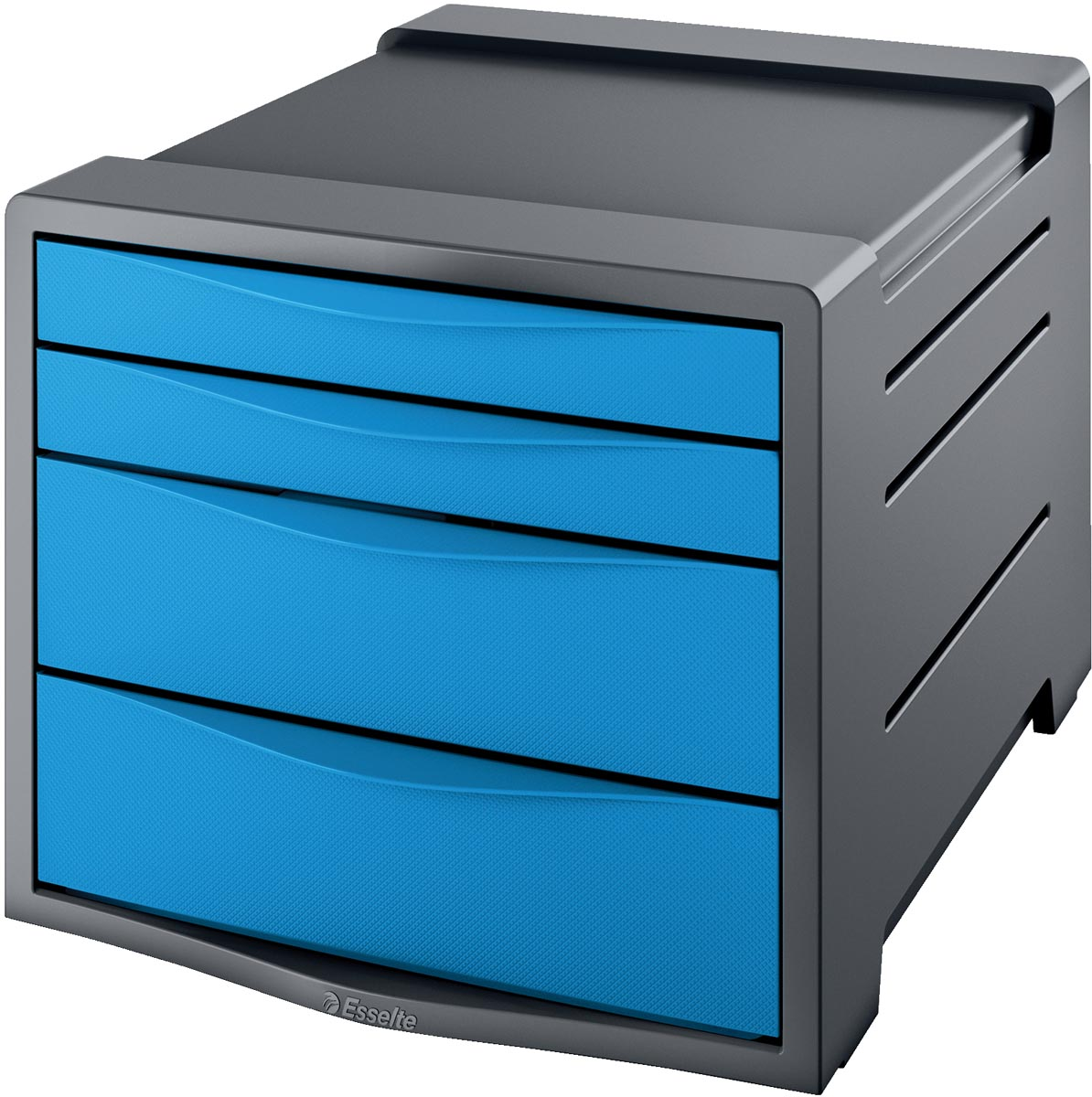 Ladenbox Esselte Vivida 4 laden blauw