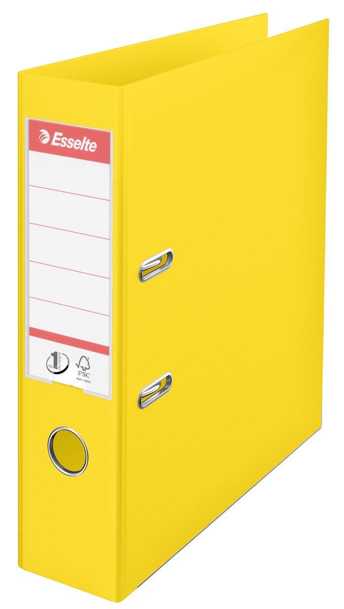 Esselte Ordner Power N° 1 Vivida ft A4, rug van 7,5 cm, geel