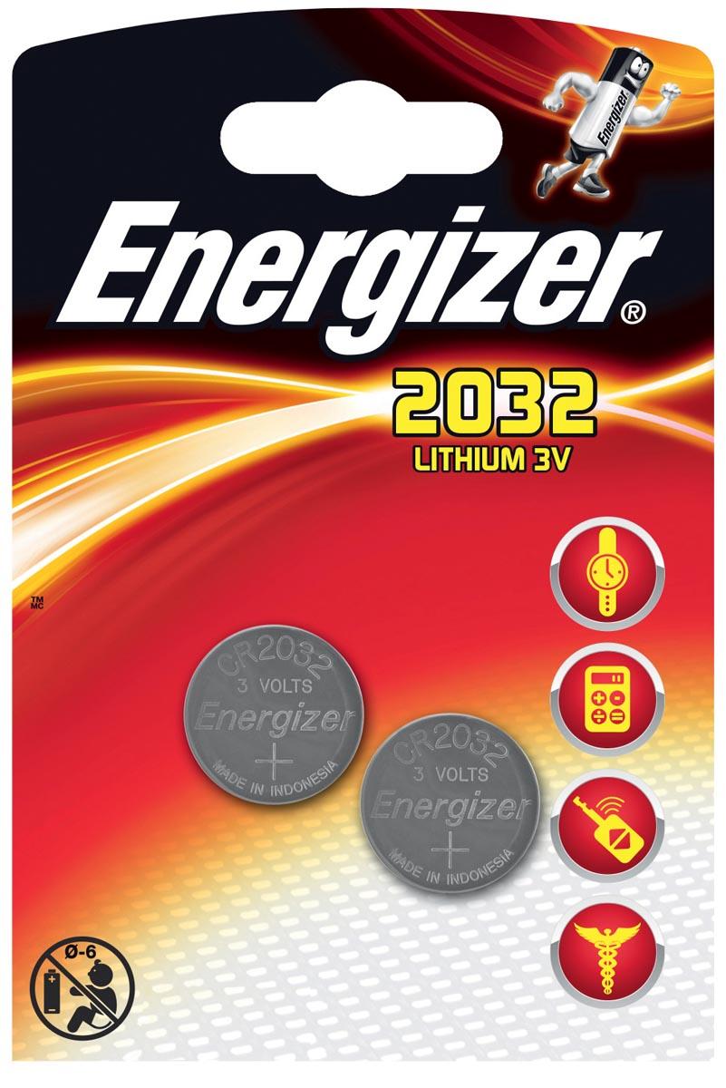 Energizer Batterij Energizer knoopcel CR2032-pak 2 (248357)