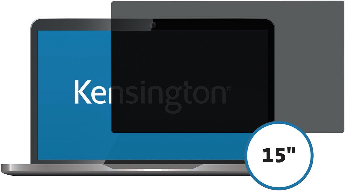 Kensington privacy schermfilter voor laptop 15 inch 4:3, 2 weg, verwijderbaar