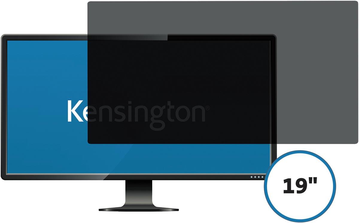 Kensington privacy schermfilter voor 19 inch monitors 16:10, 2 weg, verwijderbaar