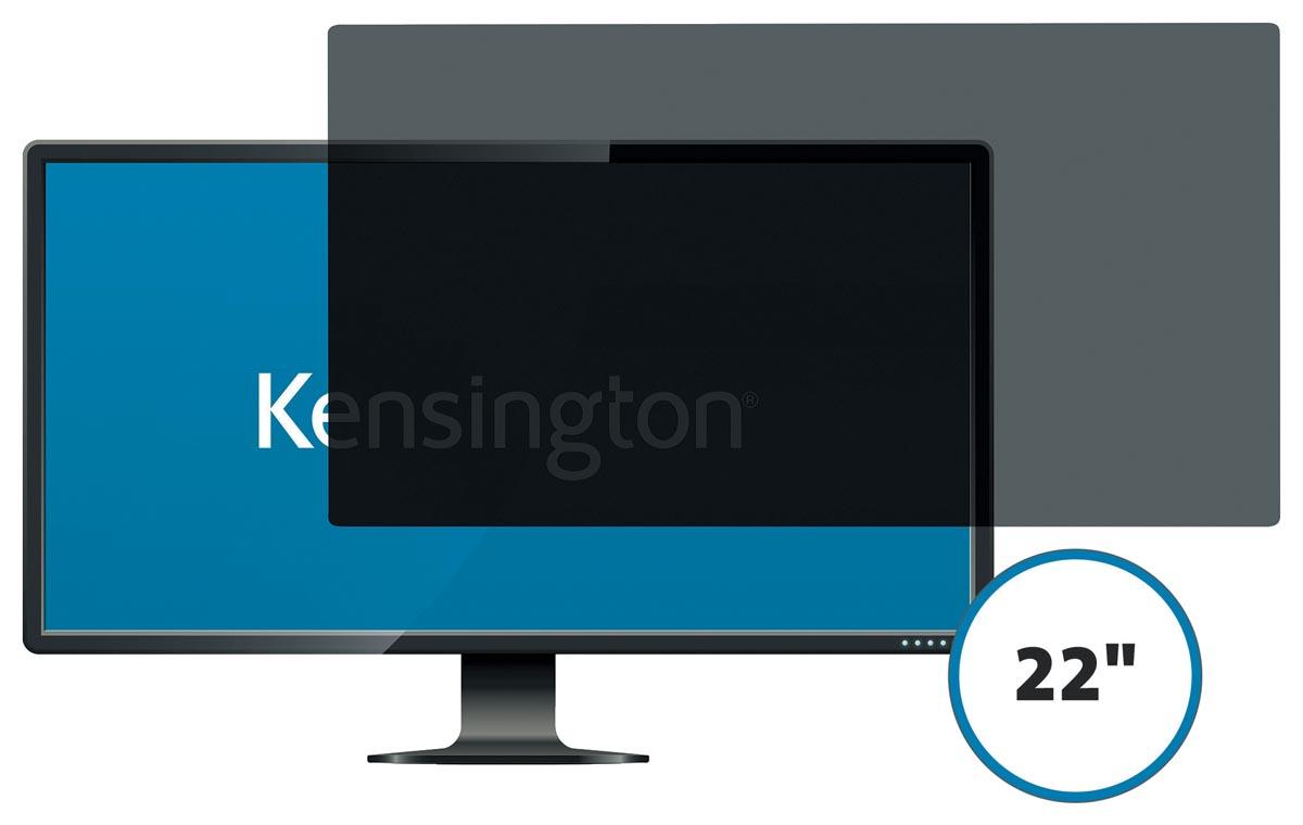 Kensington privacy filter, dubbelzijdig, verwijderbaar, voor schermen van 22 inch, 16:9