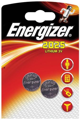 Energizer knoopcel CR2025, blister van 2 stuks