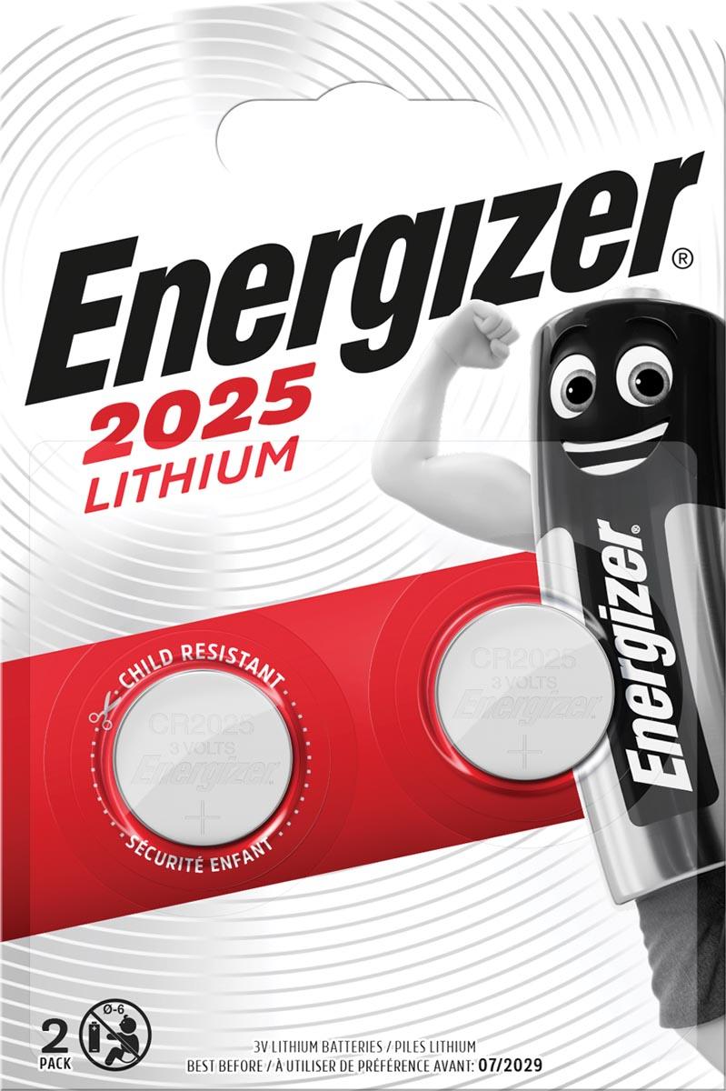 Energizer Batterij Energizer knoopcel CR2025-pak 2 (248333)