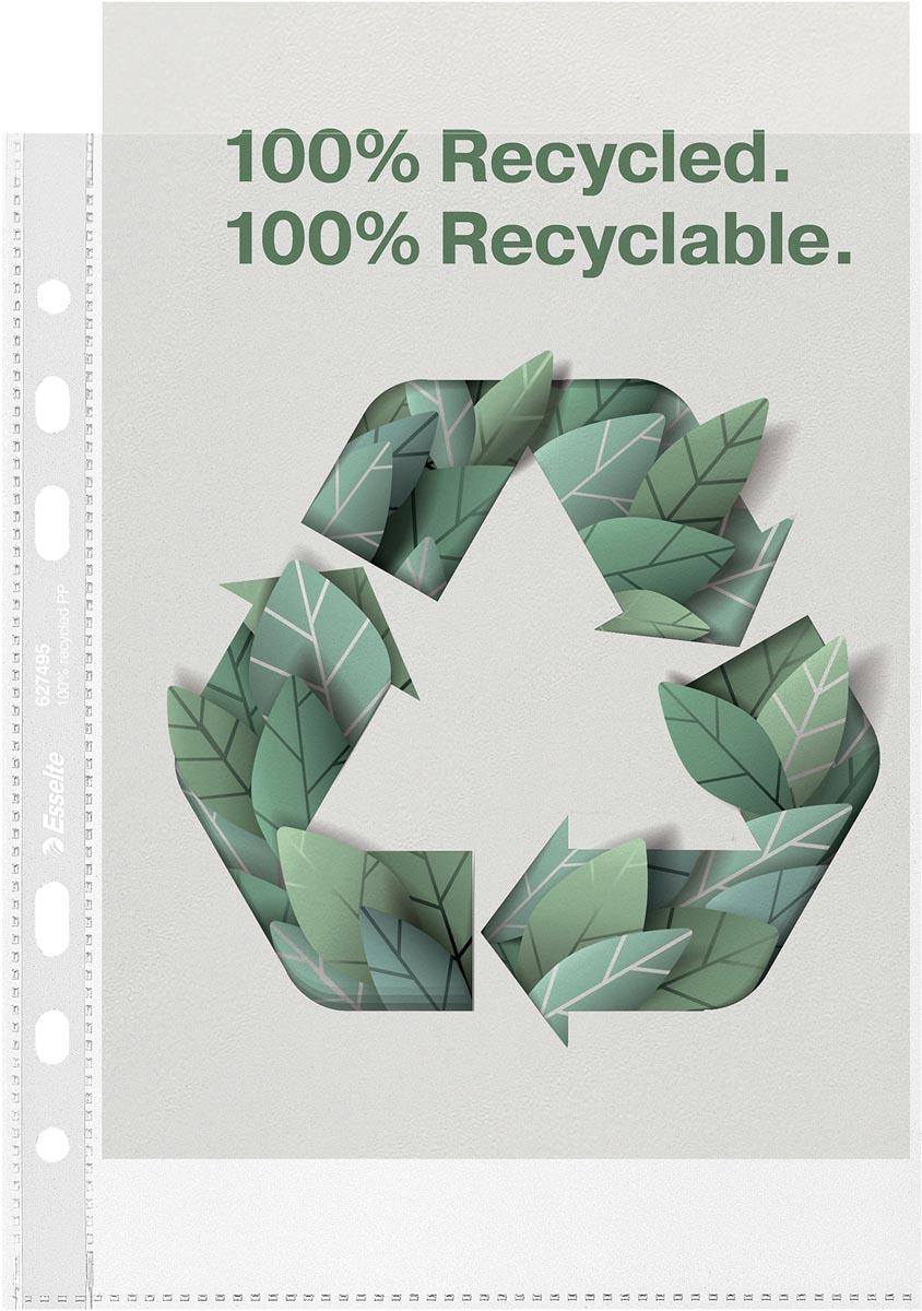 Esselte geperforeerde showtas, 100 % gerecycleerd, ft A5, 70 micron, doos van 100 stuks