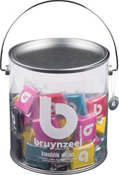 Bruynzeel kneedgum, display met 24 stuks in geassorteerde kleuren