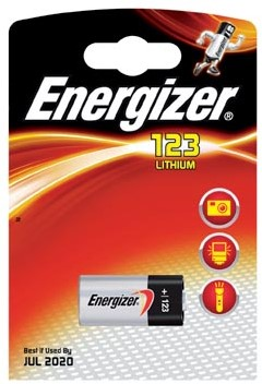 Energizer batterij Photo Lithium 123, op blister