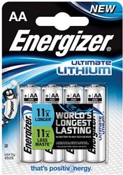 Energizer batterijen Lithium AA, blister van 4 stuks