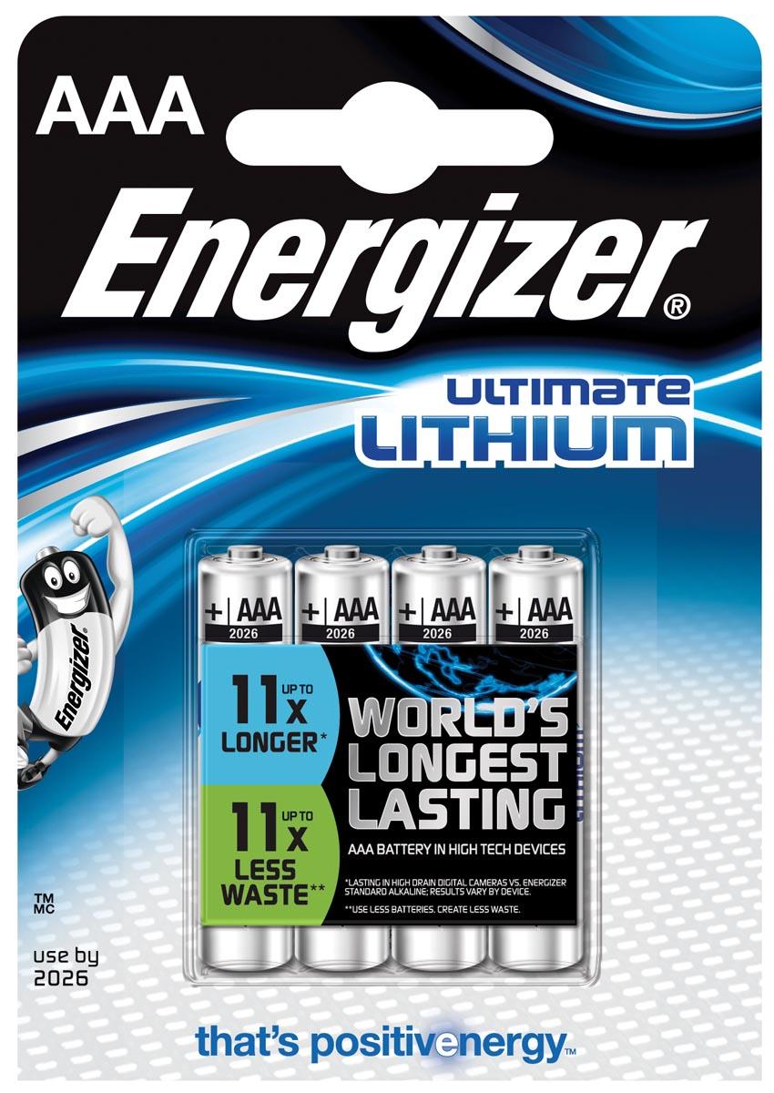Energizer Batterij Ultimate Lithium Type-AAA Minipenlite 1,5volt 4st