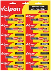 Velpon secondelijm 2 gr display van 12 stuks