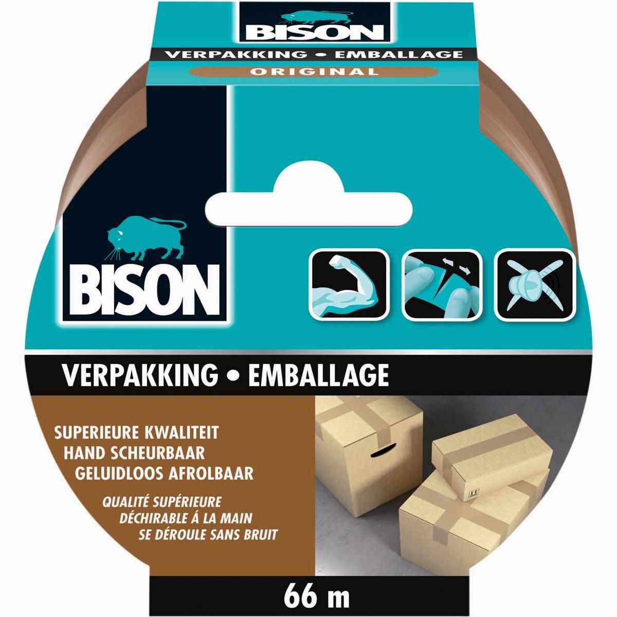 Bison verpakkingstape Original, 50 mm x 66 m