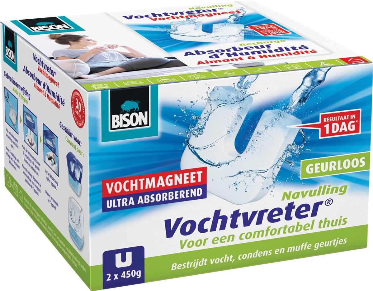 Absorbeur D Humidité Avis bison recharge pour absorbeur d'humidité ambiance 450 gram, boîte de 2  pièces