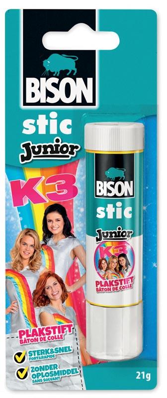 Bison Junior K3 plakstift 21 g, op blister