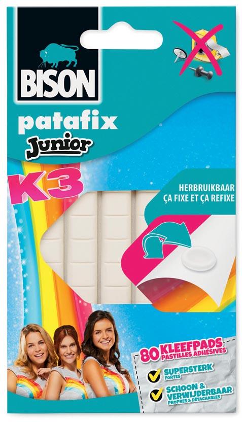Bison Junior K3 patafix 80 stuks, op blister