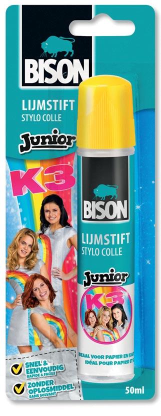 Bison Junior K3 lijmstift 50 ml, op blister