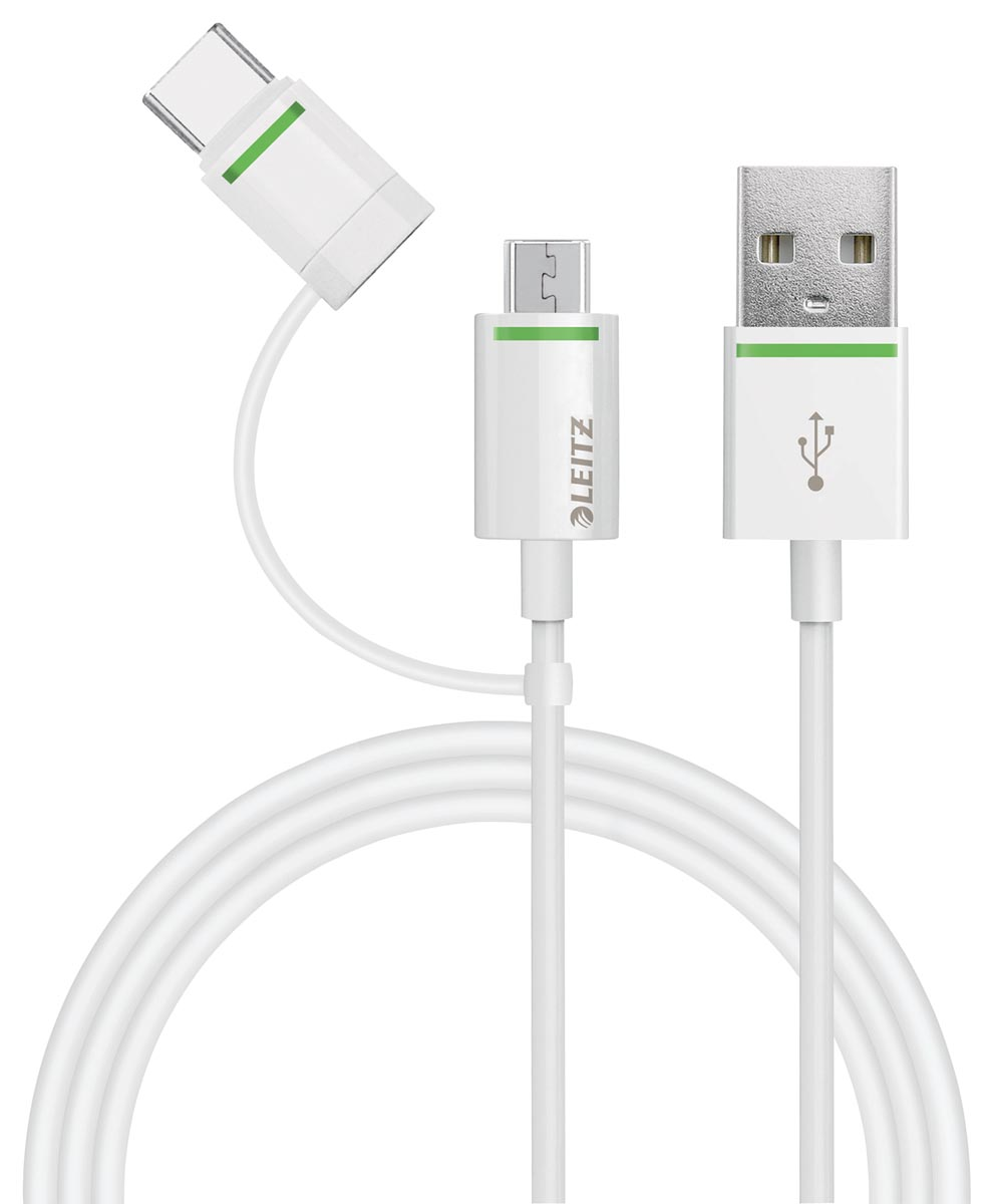 Leitz USB-C kabel met micro-USB adapter