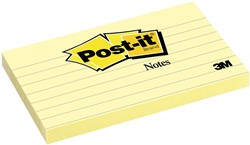 Post-it Notes, ft 76 x 127 mm, geel, gelijnd, blok van 100 vel