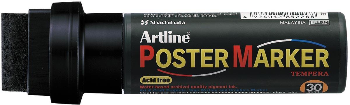 Artline Poster Marker Tempera, permanent, zwart