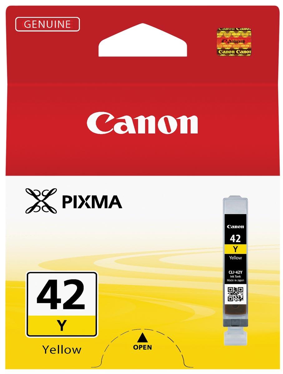 Canon inktcartridge CLI-42Y, 284 foto's, 13 ml, OEM 6387B001, geel