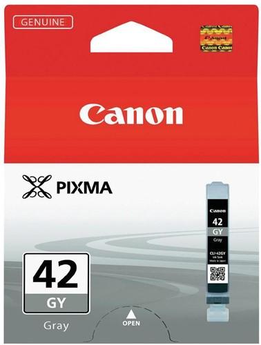 Canon inktcartridge CLI-42GY, 492 foto's, 13 ml, OEM 6390B001, grijs