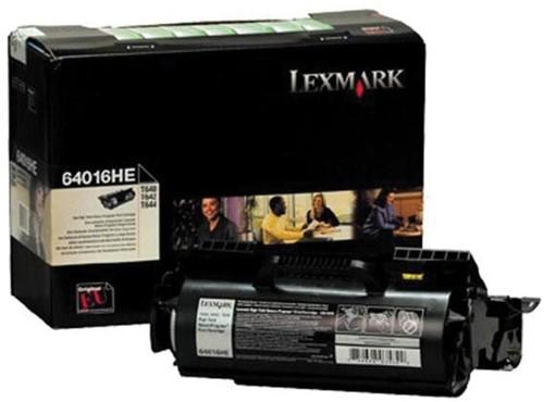 Lexmark Tonercartridge zwart return program - 21000 pagina's - 64016HE