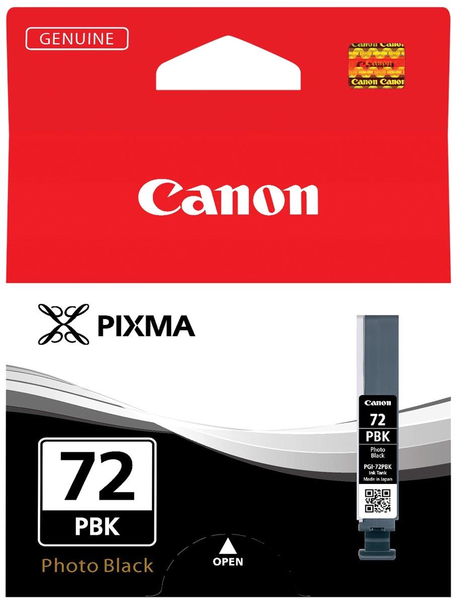 Canon inktcartridge PGI-72PBK, 510 foto's, 14 ml, OEM 6403B001, foto zwart