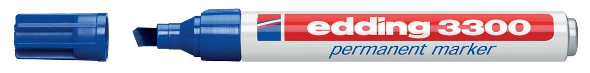 Edding permanent marker e-3300 blauw (op blister)