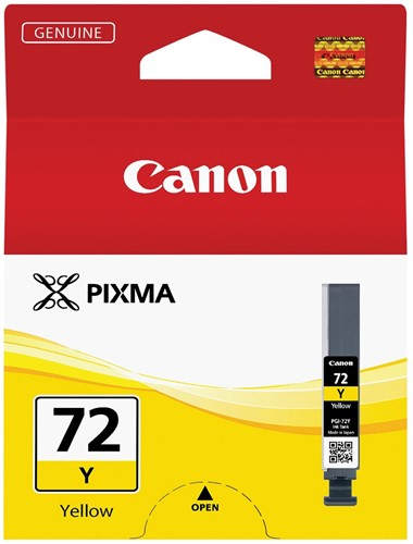 Canon inktcartridge PGI-72Y, 377 foto's, 14 ml, OEM 6406B001, geel