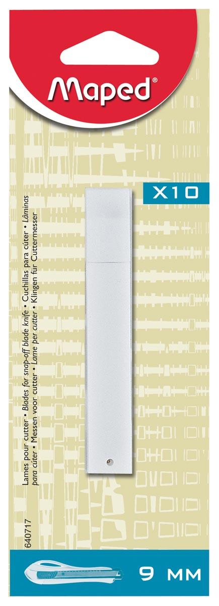 Maped vervangmesjes voor cutters, 9 mm, blister met 10 stuks