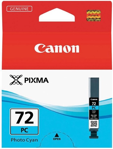 Canon inktcartridge PGI-72PC, 351 foto's, 14 ml, OEM 6407B001, foto cyaan