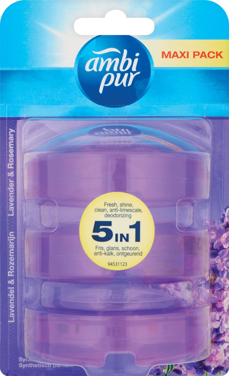 Ambi Pur Flush Lavendel Flush Navulling 3x55ml