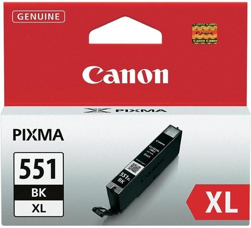 Canon inktcartridge CLI-551BK-XL, 950 pagina's, OEM 6443B001, zwart