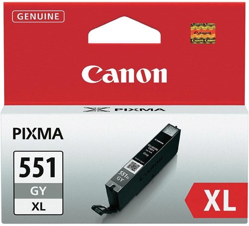 Canon inktcartridge CLI-551GY-XL, 3.350 pagina's, OEM 6447B001, grijs