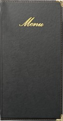 Securit menukaart Classic,  ft 36 x 19 cm, zwart