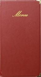 Securit menukaart Classic,  ft 36 x 19 cm, bordeaux