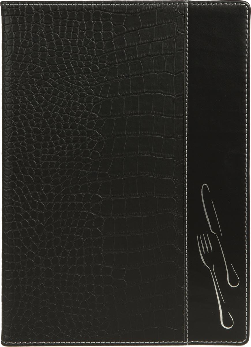 Securit Menukaart Design, ft A4,  Zwart krokodillenleer