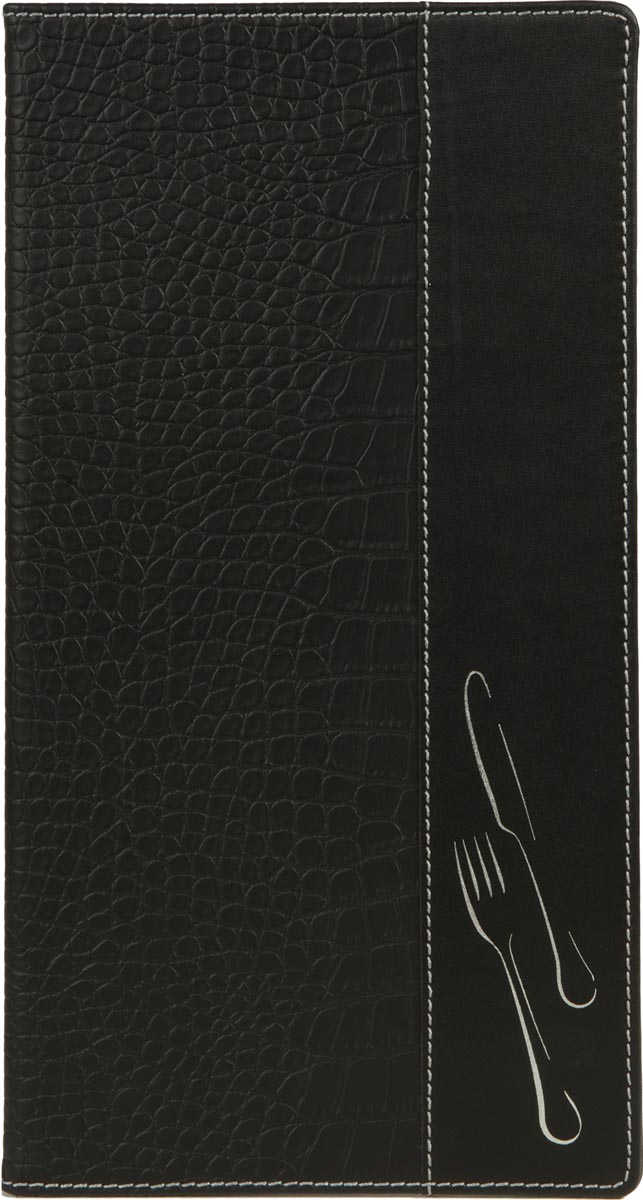 Securit Menukaart Design, ft 35 x 18 cm, zwart krokodillenleer