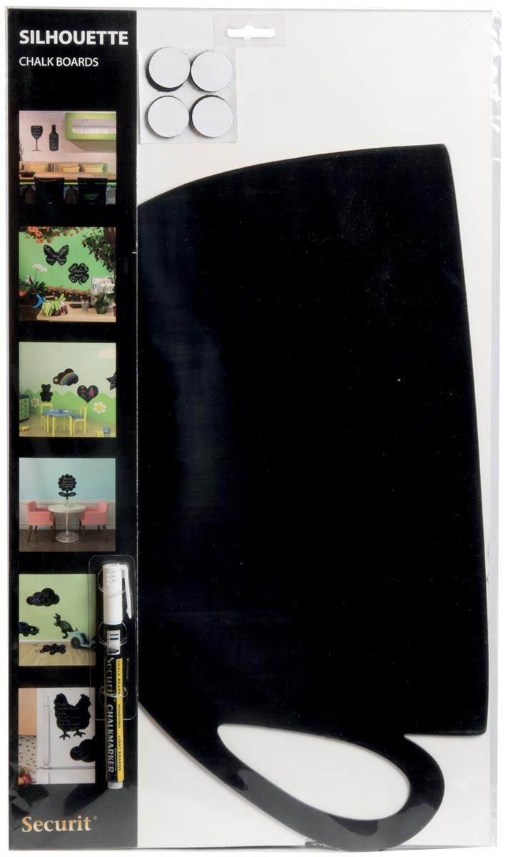 Securit krijtbord tas ft 30 x 50 cm