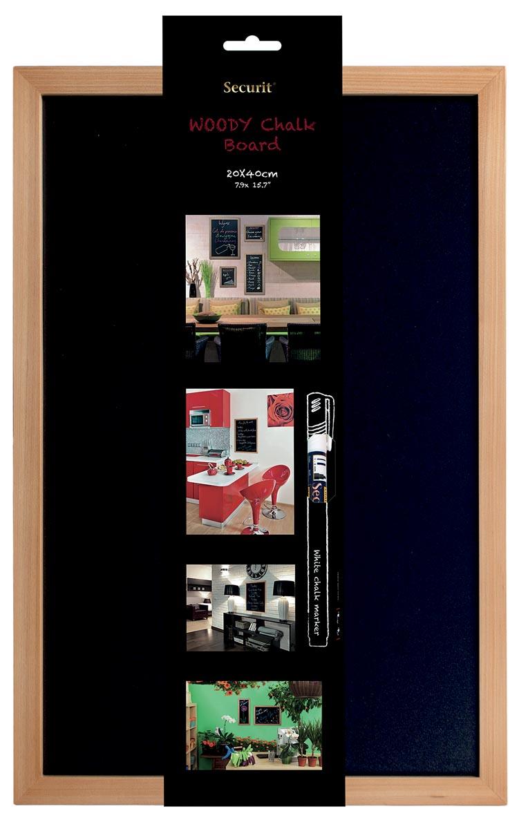 Securit krijtbord Woody ft 40 x 60 cm, teak