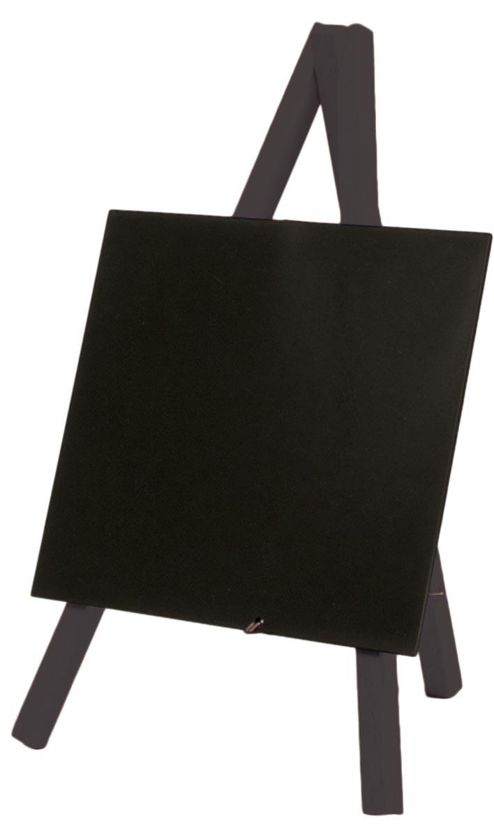 Securit tafelkrijtbord mini driepoot zwart