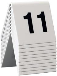 Securit tafelnummers 11 - 20, set met 10 nummers