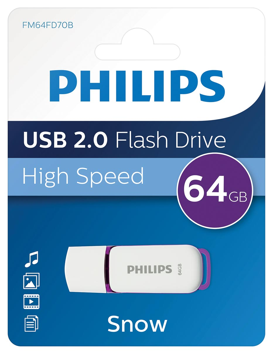 Philips Snow USB 2.0 stick, 64 GB