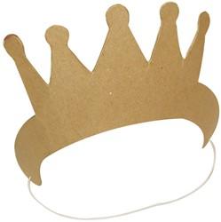 Graine Créative kroon met elastieken, karton, om zelf te decoreren